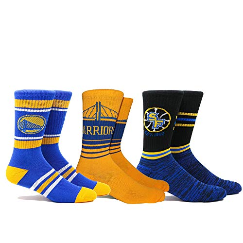 PKWY by Stance NBA - Calcetines para Hombre (3 Unidades), Golden State Warriors, XL, Verde
