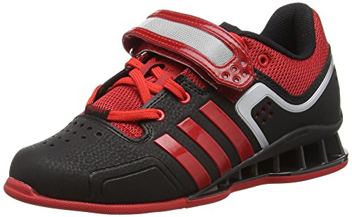 adidas Adipower, Unisex Adults' Multisport Indoor Shoes, Black (Black/Litht Scarlet), 13 UK (48.5 EU)