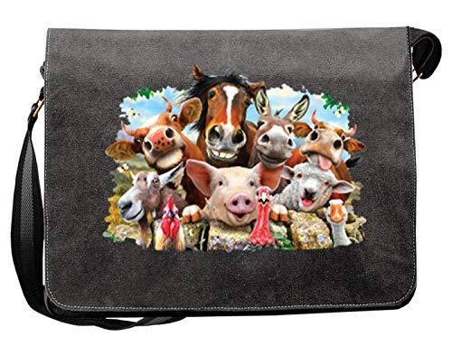 Selfie - Farm Animal Farm Bauernhof - Tasche Canvas als Geschenk Mitbringsel