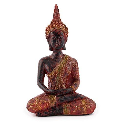pajoma Deko-Buddha, meditierend, Skulptur mit rot/goldener Robe