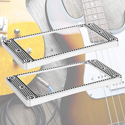 Zopsc-1 Piezas de Pastilla de Buena Textura, Marco de Pastilla Curvo, Marco de Pastilla de Metal de oxidación no fácil, para Guitarras eléctricas