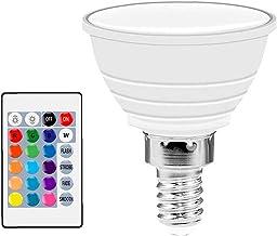 TongICheng LED RGB Spot Light, LED Smart gloeilamp, kleur veranderende dimbare lamp met afstandsbediening omgevingslicht (...