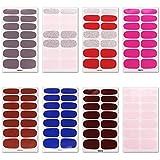 Steellwingsf Decorazione per Adesivi per Unghie di Bellezza, 8 Pezzi Adesivi per Smalto per Unghie in Tinta Unita Impermeabili Decorazioni per Manicure 8pcs