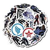 20 PCS Stickers Pack Mass Aesthetic Effect Vinyl Colorful Waterproof for Water Bottle Laptop Scrapbooking Luggage Guitar Skateboard