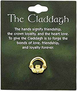 Cathedral Art T969 Claddagh Lapel Pin Carded