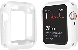 Apple Watch Series 4 44mm/40mm ケース, 全面保護 耐衝撃 ソフトTPUウォッチケースシンプルファッション第4世代のApple Watchに最適(44mm 40mm)(44mm, 白)