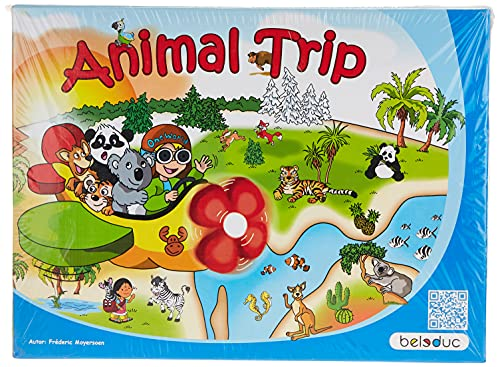 Beleduc - 22730 - Jeu De Société Éducatif - One World Animal Trip