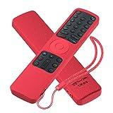 Sikai Funda de Silicona Compatible con Mando a Distancia Xiaomi Mi LED TV 4S Remote, Anti-caída Carcasa de Protección a Prueba de Golpes, Antideslizante Protection, Ajustado Adapta Mando (Rojo)