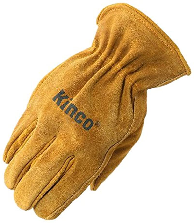 石炭錫接地Kinco Gloves Youth's Split Cowhide Leather Driver 50Y