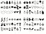 Lirener 96Pcs DIY Dekorativ Schwarze Symbole und Zeichen Einschubplättchen Set für A4 LED...