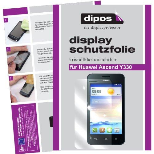 dipos I 2X Schutzfolie klar kompatibel mit Huawei Ascend Y330 Folie Bildschirmschutzfolie
