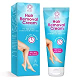 Hair Removal Cream Gel Painless Depilatory Sensitive Skin Formula Reduces Ingrown Hair and Moisturizes Skin Removes All Hair Types for Women and Men for Face Bikini Arm Leg Armpit Body,