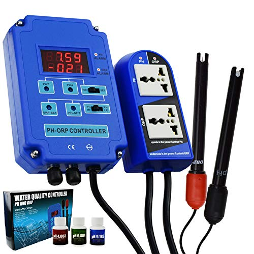 Digital 2 en 1 pH ORP Monitor Redox Monitor Electrodo Sonda BNC...