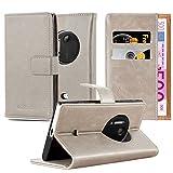 Cadorabo Custodia Libro per Nokia Lumia 1020 in Marrone Cappuccino - con Vani di Carte, Funzione Stand e Chiusura Magnetica - Portafoglio Cover Case Wallet Book Etui Protezione