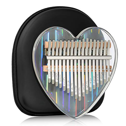 Kalimba Thumb Piano 17 Keys Musical Instruments, Mbira Finger Piano Gifts with Tune Hammer and Study Instruction for Kids and Adults Beginners