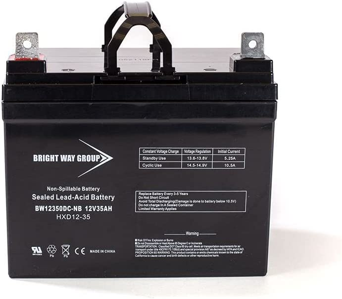 Virginia Beach OFFicial site Mall Bright Way Replacement Battery for 35Ah NB Theradyne 12V Mobilit
