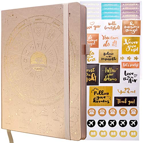 Deluxe Law of Attraction Academic Planner Sep 2020 - Dec 2021 - Weekly & Monthly Planner to Increase Productivity & Happiness (Rose Gold Astrology B5 Size) + Bonus Stickers
