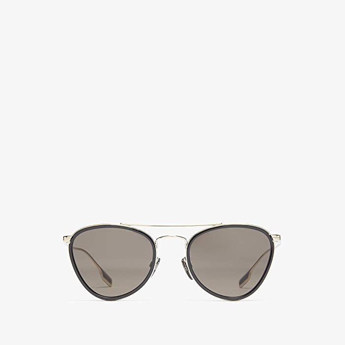 Burberry  0BE3104 (Light Gold/Black/Brown) Fashion Sunglasses