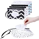 6 piezas de toallitas húmedas portátiles para bebés, caja de toallitas...