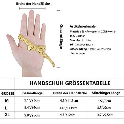 Neusky Herren Taktische Handschuhe Touchscreen Fahrrad Handschuhe Motorradhandschuhe MTB Handschuhe Mountainbike Handschuhe Outdoor Sport Handschuhe Ideal für Airsoft, Militär, Paintball (S, Grün) - 5