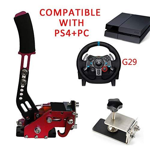 PS4 + PC G29 Freno de mano USB + Abrazadera para juegos de carreras Logitech Sistema de frenos Handbrake Auto Reemplazo Partes Azul Negro rojo Nuevo (Color : G29 Red)