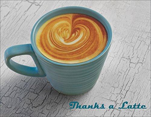 Grazie a latte–Thank You Cards note Cards–Set di 12biglietti di ringraziamento biglietti di auguri e buste