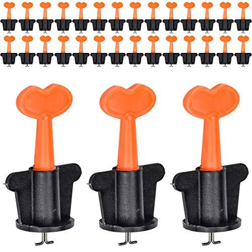 Juego de 50 Sistema de Nivelación de Azulejos reutilizables Azulejos Sistema Nivelador azulejos para localizador, alicates, cuñas y herramientas de mano