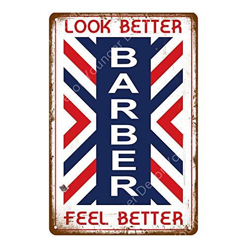 Jufn gutyhkj Retro affiche van metaal Barber Shop muursticker reclame voor Pub Bar Club Shop, tondeuse 20x30cm Ayd5170g