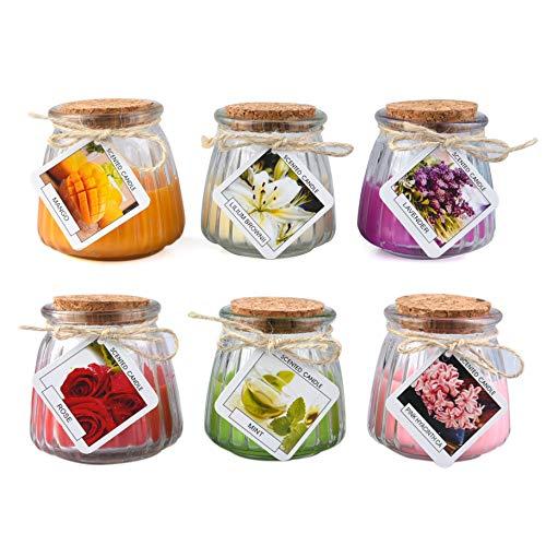 Candele Profumate Candele Di Aromaterapia Set 6 Pezzi Candela Aromatica In Vetro Per Relax Aromaterapia Regalo Antistress Di Natale