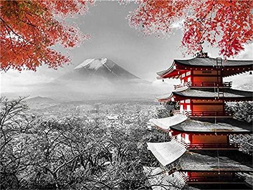 Diamond Painting Mountain Fuji In Japan 3D Full Round Drill Diamond Embroidery Landscape Handicraft Handmade Gift A3 45x60cm