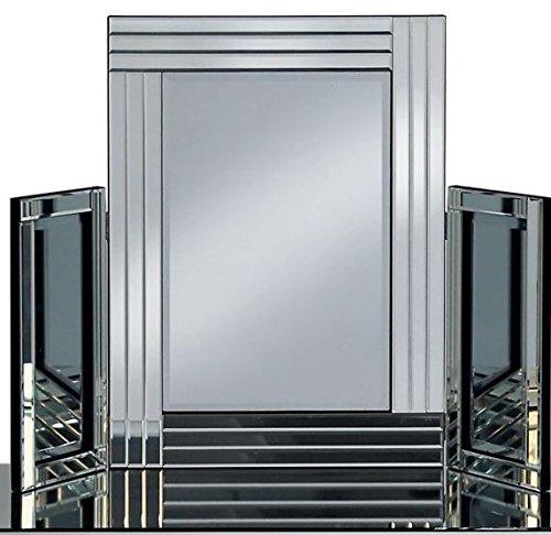CRASH PRICE FURNITURE Miroir de coiffeuse pliable - Dimensions : 62,5 x 86,5 cm