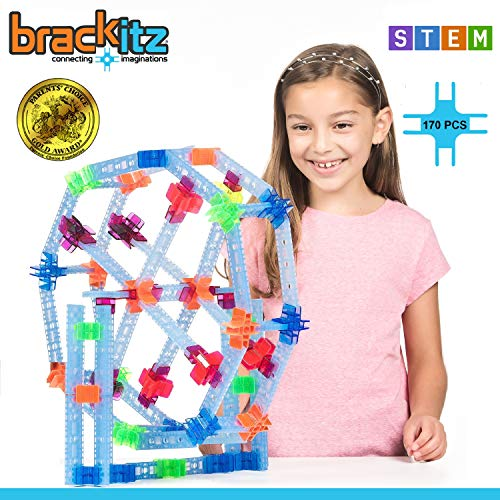 Brackitz Inventor Building Toy 170-Piece Set – Award-Winning STEM Kids Building Kit for Hours of Creative & Construction Fun – Educational Learning Toys for Boys & Girls Ages 3, 4, 5+ Year Olds
