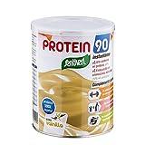 Protein 90 de Santiveri para deportistas (Vainilla) Bote de 200 gr: complemento alimenticio para deportistas a base de proteínas, aminoácidos y vitaminas. Apto para veganos