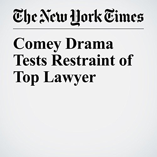Comey Drama Tests Restraint of Top Lawyer copertina