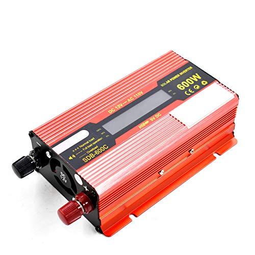 600W DC 12V to AC 110V Portable Car LCD Power Inverter WATT Charger Converter