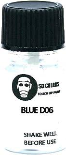 SD COLORS Blue D06 Ausbesserungslack, 5 ml, Reparatur Pinsel, Farbcode D06 Blau (Just Paint)