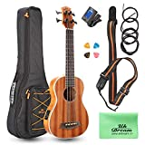 Uk Dream Ukulele de basse électro acoustique, soprano Sapele Wood, kits de démarrage Uke...