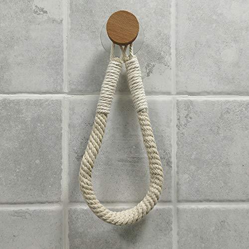 Tukcherry Portarrollos papel higiénico Vintage – puerta toalla – Cuerda Industrial Baño - Portarrollo para Papel Higiénico Autoadhesivo Para Baños