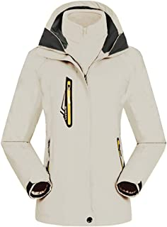 Women's Mountain Waterproof Windproof Fleece 3 in 1 Jacket Ski Hooded Rain Coat