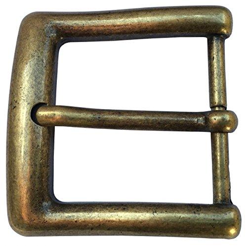 Brazil Lederwaren Gürtelschnalle 4,0 cm | Buckle Wechselschließe Gürtelschließe 40mm Massiv | Dorn-Schließe | Wechselgürtel bis 4cm | Altmessing