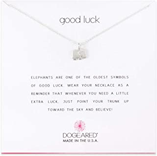 Dogeared Good Luck Elephant Sterling Silver Necklace