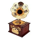 Grammofono retrò Carillon Regalo Scatola di immagazzinaggio Creativa Artigianato Carillon a Forma...