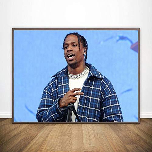 La Flame Poster Rapper Music Star Posters E Impresiones Lienzo Pintura Arte De La Pared Imagen para La Sala De Estar Decoración del Hogar 50X70Cm Cdl-2458