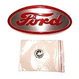 8N16600A Front Hood Nose Emblem Medallion Badge Grill Fits Ford 8N Red Lettering