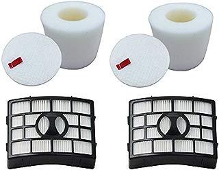 Smartide 2 Pack NV650 NV750 Foam & Filter hepa kit Fits for Shark Navigator Lift-Away NV650W, NV651, NV652, NV750REF, NV750W, NV751 & NV752 Vacuums, Part # XFF650