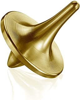 ForeverSpin 24kt Gold Plated(Brush-Finish) Spinning Top - World Famous Metal Spinning Tops