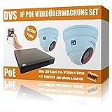 Set de videovigilancia IP HD con 2 cámaras IP Dome y NVR, Incluye Accesorios, Disco Duro de 4000 GB