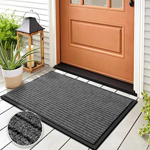 Floordirekt Schmutzfangmatte Dura | Robust & Strapazierfähig | In vielen Größen und Farben | rutschfeste Sauberlaufmatte für Innen und Außen (Grau, 66 x 120 cm)