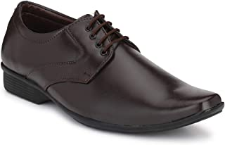 Andrew Scott Synthetic Mens Brown Leather Formal Shoes - 10 UK