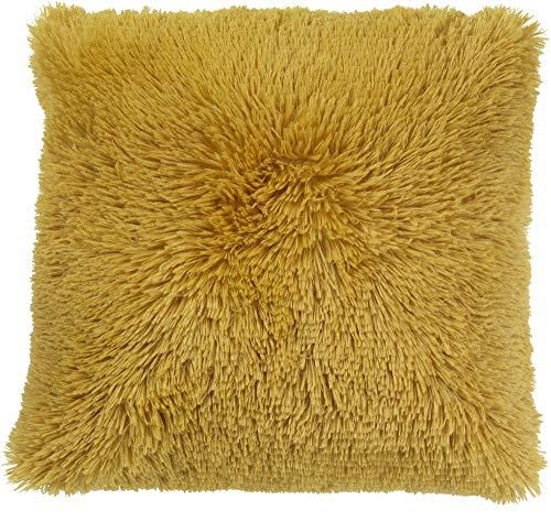 Dutch Decor Fluffy Sierkussen, Polyester, Gouden gloed, 45X45